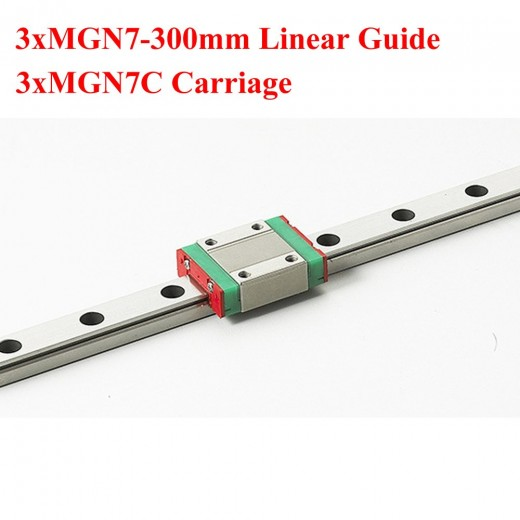 MR9 9 мм линейная направляющяя MGN9 длина 300 мм с MGN9H линейным блоком каретки