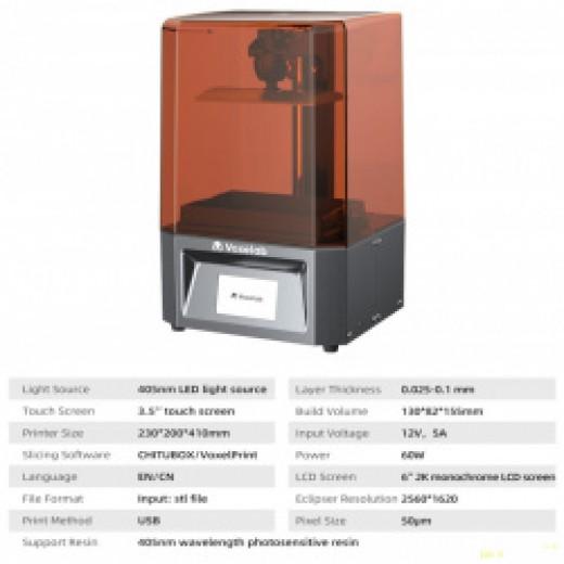 LCD 3d принтер FlashForge-Voxelab Proxima фотополимерный 130*82*155