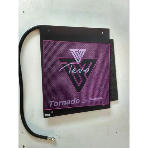 Боросиликатное стекло + нагреватель силиконовый +термопленка для TEVO TORNADO 300*300