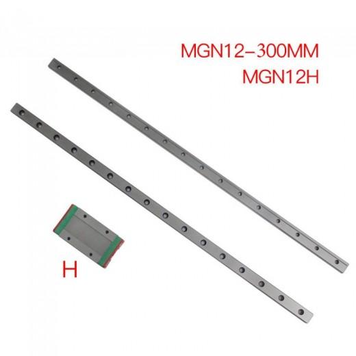 MGN12-L1000mm линейный рельс + каретка MGN12H