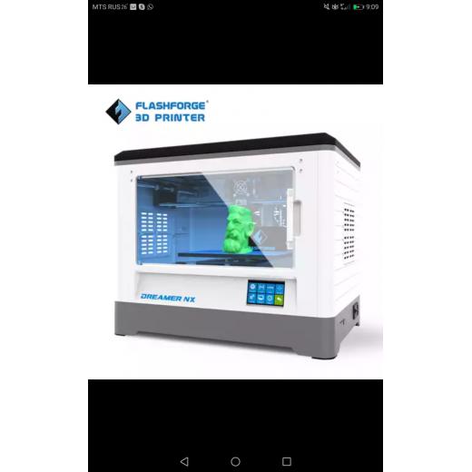 3d принтерTevo-Flashforge Dremer-NX, 1голова