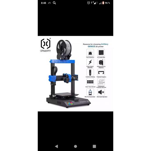 3D принтер Tevo-Artillery GENIUS, высокоточный Настольный уровень, двойная ось Z, сенсорный экран TFT